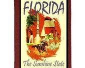 FLORIDA 15- Handmade Leather Journal / Sketchbook - Travel Art