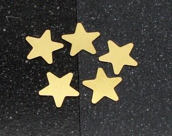 20mm Brass 5-Point Star 24 Gauge  Pack of 5