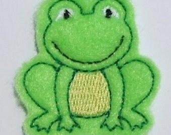 Felt frog Applique Embroidery mini designs