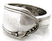 Spoon Ring Size 8 Heather Art Deco