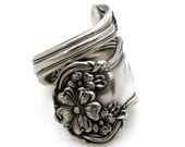Spoon Ring, N monogram Wrapped Arbutus Choose Your Size