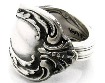 Silver Spoon Ring Size 3 to 15 Harmony