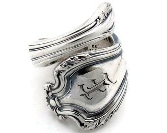 Spoon Ring Wrapped E Monogram Faneuil Choose Your Size