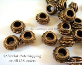 10 Antique Bronze Spacer Beads Tibetan Silver 8x5mm LF/CF/NF - 10 pc - M7052-AB10
