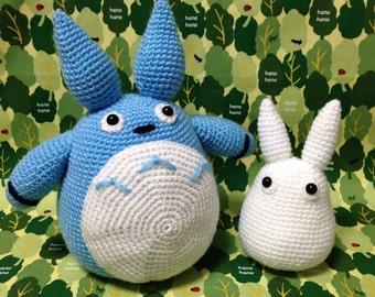 Baby Totoro and Tiny Totoro / Handmade Totoro / Crocheted Totoro - A set of 2