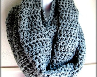 Infinity scarf, blanket scarf grey scarf, wide long scarf. gray scarf, super large thick scarf, crocheted, men's scarf, woman's scarf, BOGO