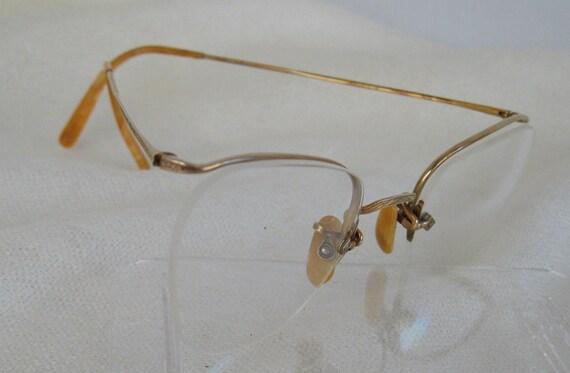 Vintage Semi Rimless Eyeglasses 1/10 12kgf