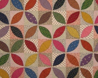 Orange Peel Vintage Quilt Pattern from Quilts by Elena Wall Hanging Table Runner