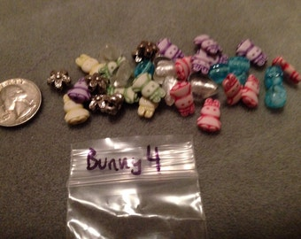 Bunny bag 4: rabbit beads