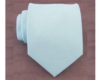 Sea Glass Blue Tie. Necktie Inspired by Donna Morgan's Beach Glass Seafoam Blue Silk Tie. Wedding Ties. Groomsmen Ties