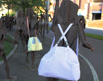 Convertible Weekender Backpack or Crossbody Carry on Sized Custom Made in your fabric choice