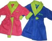 Handmade  Personalized  Toddler Fleece Robe