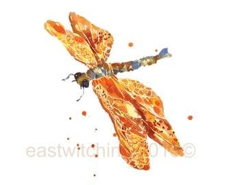 DRAGONFLY Print, 5x7 inch, dragonfly