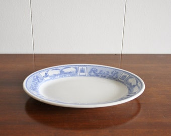 Vintage blue and white ironstone plate