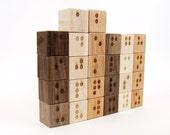 Braille Alphabet Blocks, tactile wooden letters toy