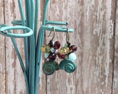 Seashell Dangle Earrings, Boho Chic, Beach Girl