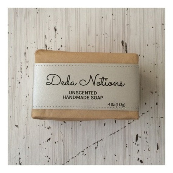 Unscented  - OLIVE & SHEA BUTTER Soap - Handmade Cold Process