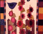 Pattern - Button Up June - wall banner quilt - applique