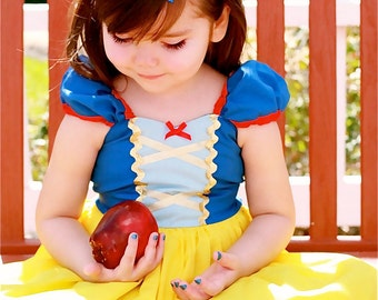 SNOW WHITE dress girls princess dress  practical princess dress style costume 7/8 8/10 10/12