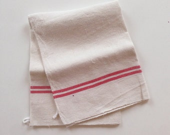 Vintage Striped Tea Towel / Torchon from France