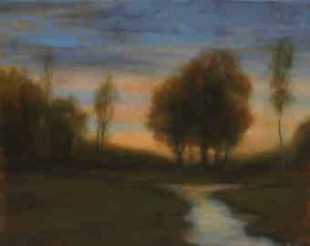 oil painting original landscape Against The Sky 16X20