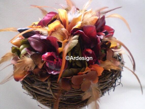 BIRDS OF A FEATHER Birds Nest Wedding Bouquet