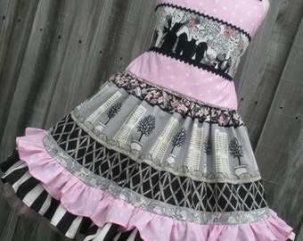 Ready to Ship Custom Boutique RTS Halloween Ghastlie Dress Girl Ghastlies Pink  3 4 5 Slim Size 6