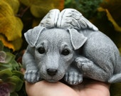 Jack Russell Terrier - Angel Dog Statue -  Concrete Pet Memorial