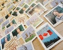 Postage stamp destash stamp collection Canadian stamps scrapbooking destash card making paper crafts supplies mixed media ephemera art  383