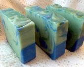 Eucalyptus/Spearmint Goat's Milk Soap/Made in Vermont/large 5 oz bar