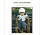 "35. English and french INSTANT DOWNLOAD PDF knitting pattern Little Darling or Minouche 13"" dolls"
