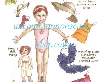 Play Dress Up with Emma, a Paper Doll!