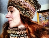 The Arizona Cap - cloche with crochet accents & tassel - corespun VEGAN yarn