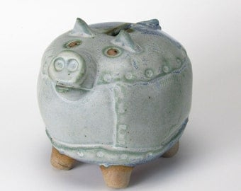Happy Blues Small Piggy Bank