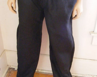 Hermans Hemp Men's 100 percent Hemp L Yoga pants Black