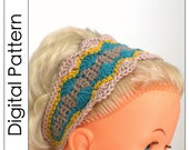 Crochet headband pattern in PDF - Seashells - pattern for adults