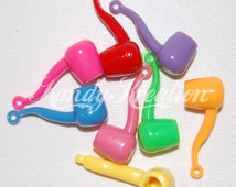 8 Pipe Pendant beads for Peace Pony Kandi Rave Kandy Raver Necklaces Charm EDC smoking hooka Bracelets crafts