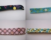 Hand Embroidered and Button Embellished Assortment of Snap On Wrist Cuff You Choose One