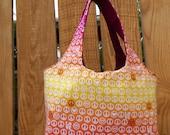 Peace and Love Yellow Pink Orange Gradient  Mini Sac Shopping Craft Gathering Tote