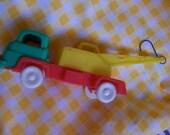 toy plastic truck and crane