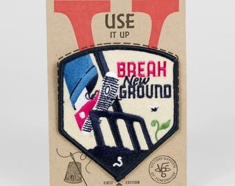 Break New Ground- embroidered badge