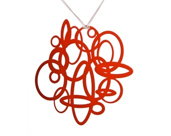 Red Circle Pop-Out Pendant