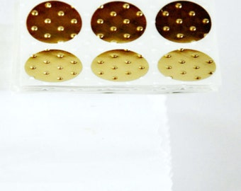 Gold Round 1.0in Dot Gift Seals | Embossed Gold Seals | Gift or Envelope Seals | Wedding Engagement | Special Event Seals