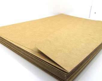 Kraft Envelopes, A6 Kraft Envelopes, 4R Photos Envelopes - 10 pcs