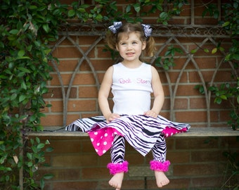 Girls Tank Top Dress - Rock Star Bandana Twirl Tank Dress - perfect for, Pagents, Pinics, Birthday, Photos - Fit girls Sz 1-4t