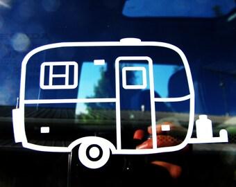 Fiberglass trailer car window vinyl decal - scamp camper- casita - burro - boler - rv - caravan - camping - travel bumper sticker - camp
