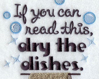 Flour Sack Kitchen Tea Towel Dry the Dishes
