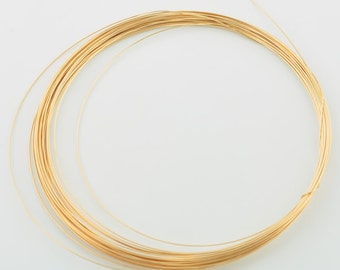 28 gauge 18k Solid gold Half Hard Round Wire By The FOOT
