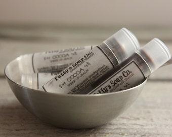 Cocoa | Natural Lip Balm | Beeswax Balm | Tinted Lip Balm | Cocoa Butter Lip Balm | Fatty's Soap Co.