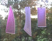 Ceiling Fan or light pull - sun catcher - dichroic glass leaf imprint - FERN imprints (1945-1942-1953)